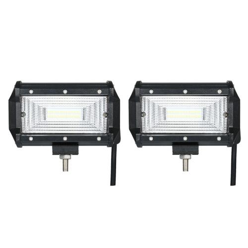 2pcs 72W Автомобильная лампа для работы с лампой 6000K Освещение (полоса пропускания)