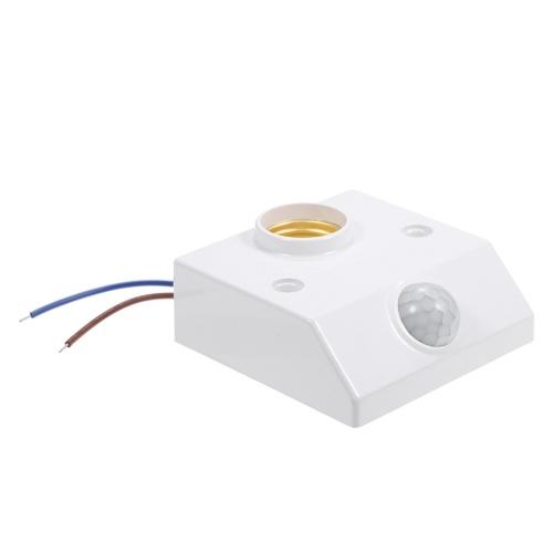 AC100-265V 50 W (max.) Mini-PIR-Bewegungssensor E27 Lampenfuß-Sockelhalter Angenommen Empfindlich 3-stufige Lichtsteuerung / 3 Stufen einstellbare Infrarot-Verzögerungstechnologie für den Menschen