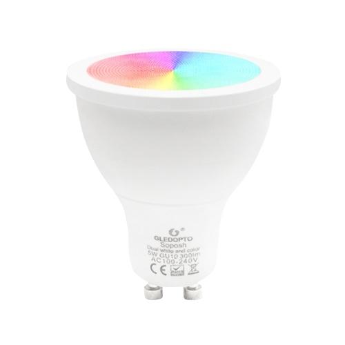 GLEDOPTO AC100-240V 5W RGB + Bombilla inteligente blanca y blanca cálida (versión Zigbee)