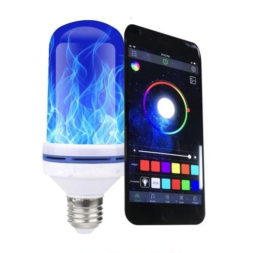 E27 LED Bombilla de luz de fuego con efecto de llama Luz decorativa para el hogar Iluminación de ambiente Lámpara llameante vintage controlada por teléfono
