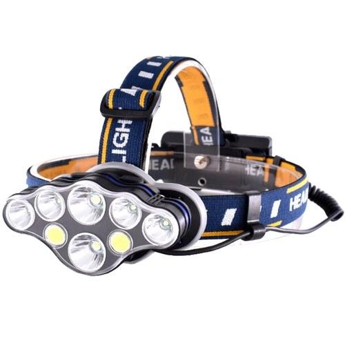1500 Lumens 8 LEDs 8 Modes USB Rechargeable Headlamp