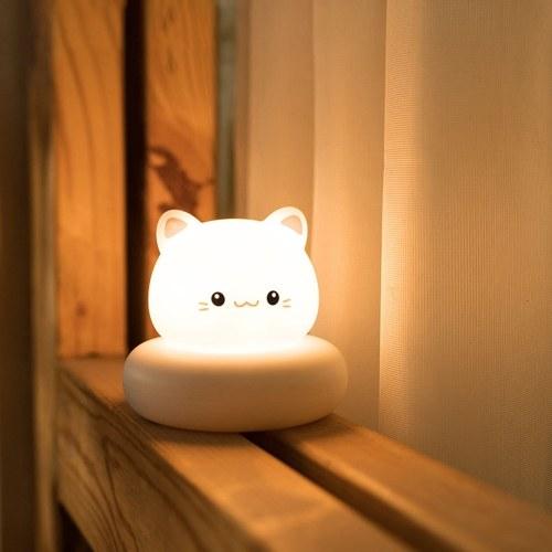 Flexible Mini LEDs Night Light USB Rechargeable Cute Rabbit/Bear/Cat/Duck Baby Feeding Lamp Dimmable 3 Brightness Levels Portable Reading Lamp