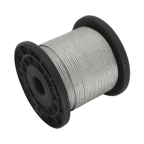 304 Stainless Steel Wire Rope Cable with 30pcs Aluminum Clamps Loops 328FT String Light Hanging Cable 1*7 Strand Core 110Mpa Breaking Strength for Outdoor Yard Garden