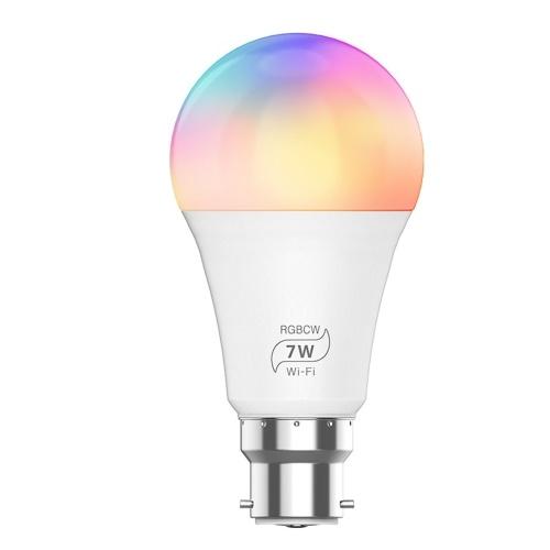 Lampadina intelligente 7W Connessione RGB WIFI Colore Luminosità Lampadina regolabile Supporto Alexa Google Voice Control