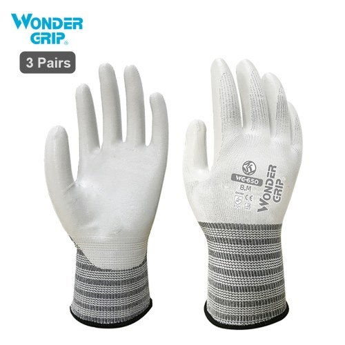 Wonder Grip WG-650 Safety Gloves Nitrile Rubber Protective Gloves Wear-resistant Waterproof Non-slip Thick Working Gloves