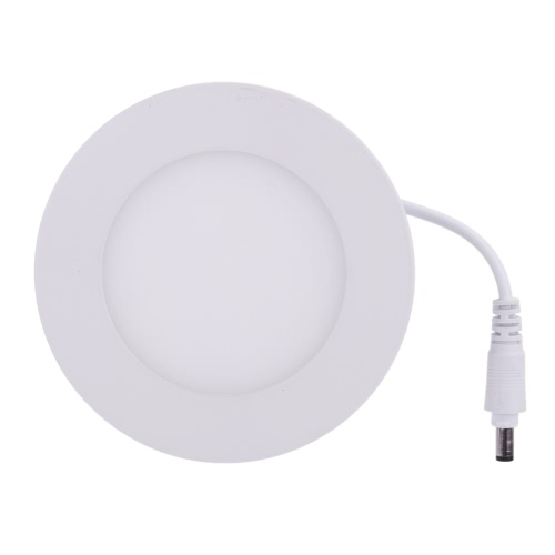 Lixada 4W LED Recessed Lighting Panel Ceiling Down Light Ultra Slim Thin and Bright Round Lamp Glare-free Wall Mount Downlights