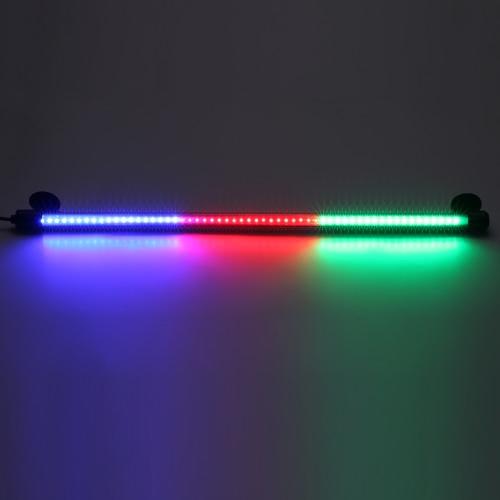 """18.9 """"4W 57LED 3 kolory IP68 Wodoodporny Podwodny Akwarium Światło Silikonowe Lampa do przyssawek Lampa do zbiorników ryb Klatka dla kotów Cysterna Rockery"""
