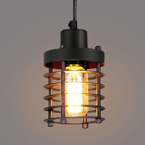 Pendant Light Iron Industrial Retro Style Bird Cage Design for  Dining Room Bar Pub Club