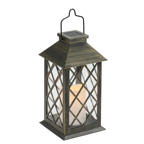 Tomshine Solar Lights Outdoor Candle Lantern LED Security Light Flickering Effect for Garden Path Ornaments ( 1 Battery Included)
