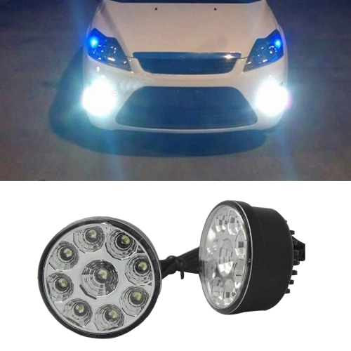 2PCS 9W LED Round Day Fog-Light Car Headlamp