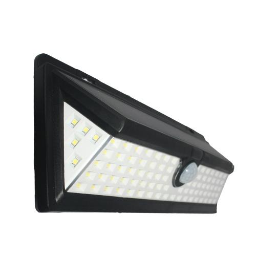 90 LEDs 8W Solar Powered Wall Lamp PIR Motion Wall Light