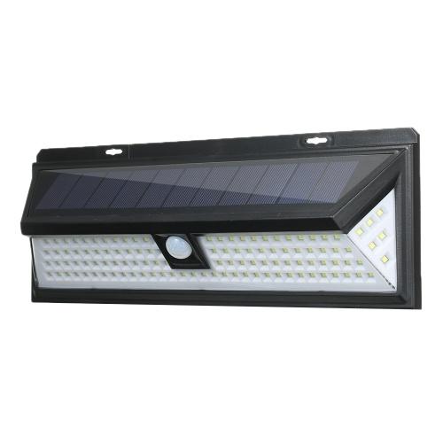 118 LEDs Solar Powered Lamp PIR Motion Sensor Wall Light