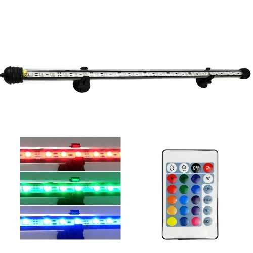 AC110-240V 5.4W 27 LED RGB Submersible Aquarium Lamp