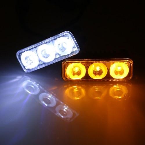 2 Stück DC12V 9W 3 LEDs Tageslichtfahrlicht