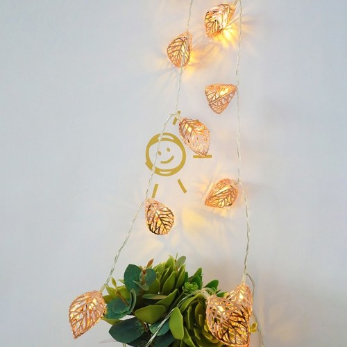 DC5V 1.2W 3 Meters 20 LEDs Hollow-out Leaf Design Fairy String Light