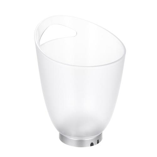 4L ad alta capacità 4 LED RGB Lampada con luce Secchiello per il ghiaccio Design curvo Cambio colore automatico / Colore statico Alimentato a batteria / Funziona tramite USB Resistenza all'acqua IP65