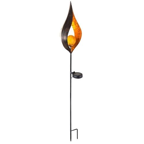 Solar LED Simulate Flame Light Lawn Lantern Lamp Waterproof Outdoor Lights