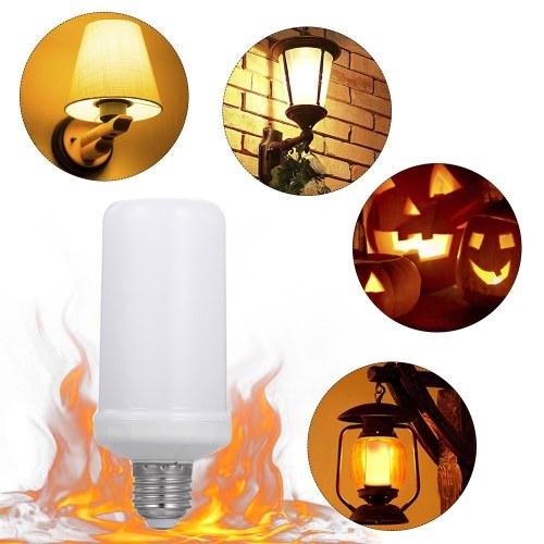 E27 LED Bombilla de efecto de llama 4 modos de iluminación Lámpara encendida Modo inducido por gravedad