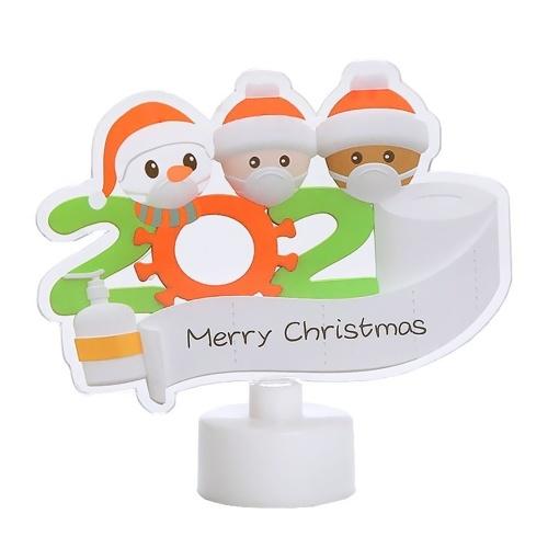 Ornamenti natalizi Babbo Natale con LED che cambiano colore Luce per la decorazione della tavola Albero di Natale Rotante Ornamenti in acrilico Pendenti