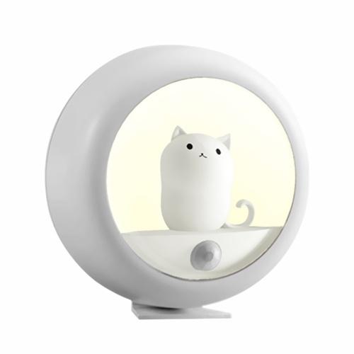 Sensor Night Lights Lovely Cat Bedroom Mini Infrared Sensing Lamp