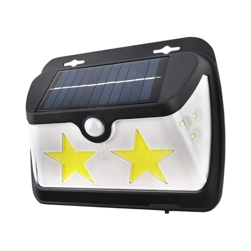 62COB + 8LED IP65 Lámpara Solar de Inducción Humana 3 Superficies Luminosas