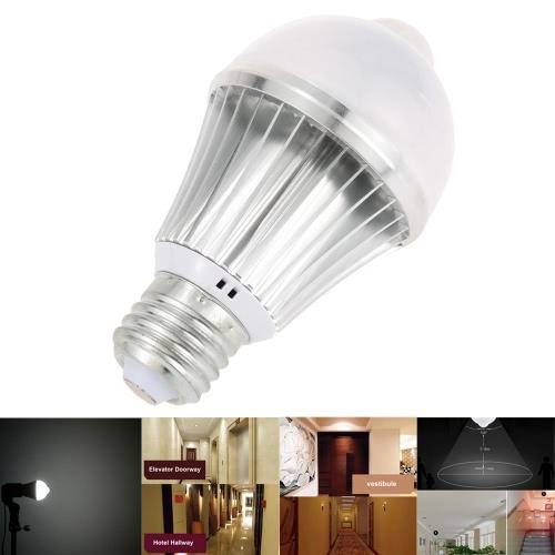 PIR LED mouvement humain capteur de lumière 10 LEDs 5W 400LM E26/E27 isolé constante actuel pilote chambre voie Bureau armoire de salle de bain lampe ampoule usage à l'intérieur blanc