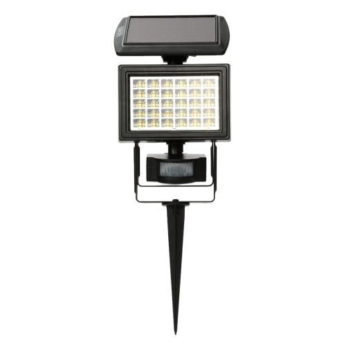 30LEDs Solar Powered Outdoor Security Floodlight PIR Motion Sensor Lawn Light Control Night Light Garden Yard Street Lamp White