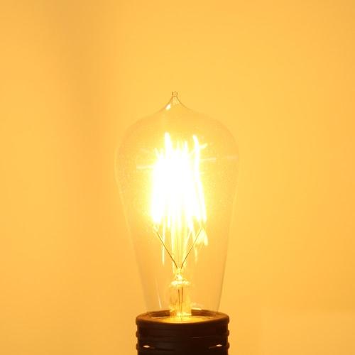 4W ST58  E27 LED Filament Bulb Light Warm White