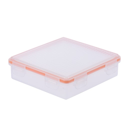 Transparent twardego plastiku Wodoodporna baterii ochronna Box Holder Storage Case do 18650 bateria (4-Pack) / CR123A Bateria (8-Pack)
