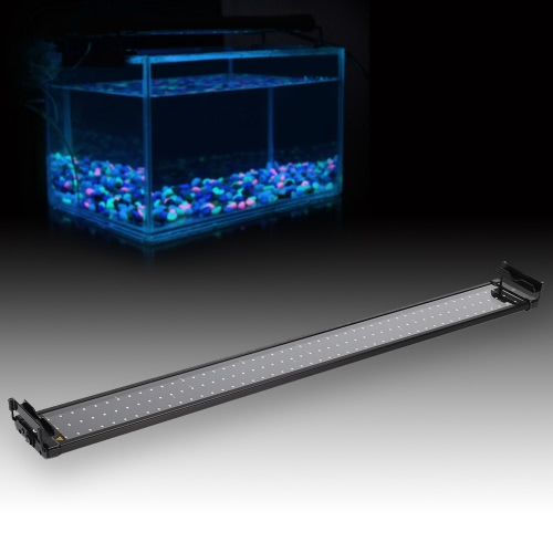 37 Extendable 25W 144 LED SMD 2835 White Blue Light 2 Modes Bracket Aquarium Fish Tank Lamp