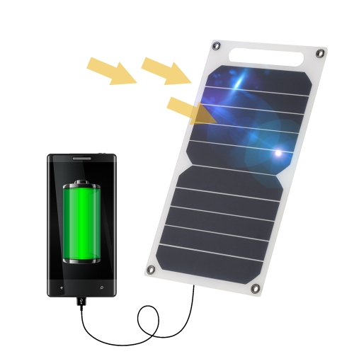 10W 5V Ultra Thin Solar Charger Panel with USB Ports