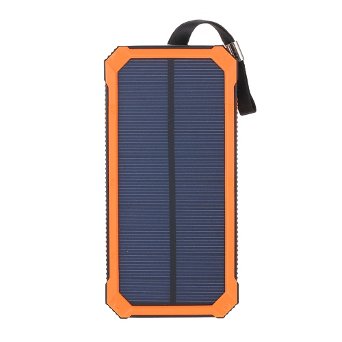 Portable 5000mAh Dual USB Solar Power Bank Charger Multifunctional Dimmable