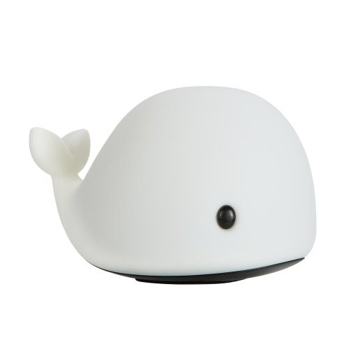 New Style Touch Sensor Little Dolphin LED Night Light Soft Silicone Baby Nursery Lamp with Sensitive Tap Control 7 Single Colors