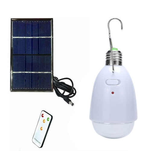 Solar Powered Rechargeable LED Light Bulb with Solar Panel