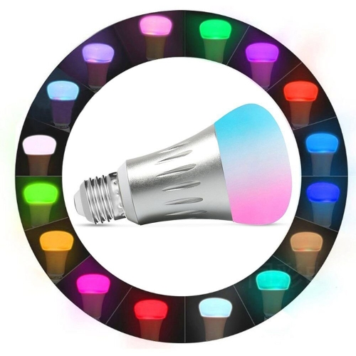 7W E27 RGBW LED WIFI Bulb Smart Light For Echo Alexa Google Home