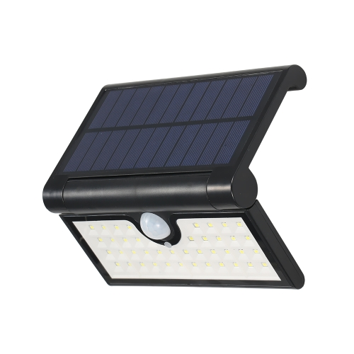 Lámpara de pared accionada solar 42LEDs con sensor de movimiento PIR