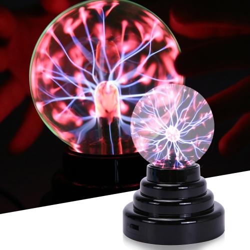 Lampe de sphère électrostatique sphérique de boule de plasma de cristal de nébuleuse d'USB de 3