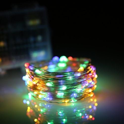 32.81ft / 10M 100 светодиодов Звук активировал музыкальные струнные огни