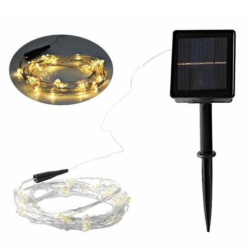 Luz de cuerda navideña de energía solar 200LED