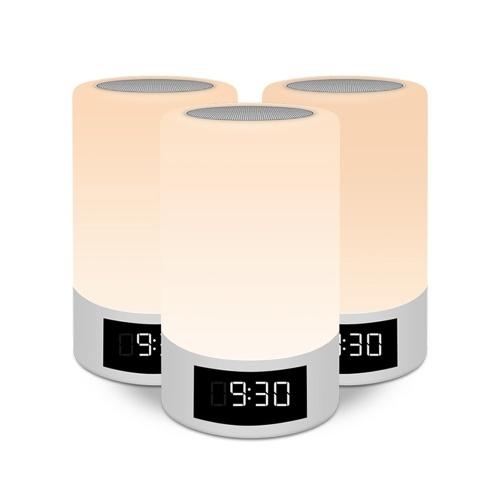 M6 LED Luz nocturna Sensor táctil Lámpara Reloj despertador multifunción Sin cables BT Altavoz RGB Lámpara de escritorio colorida