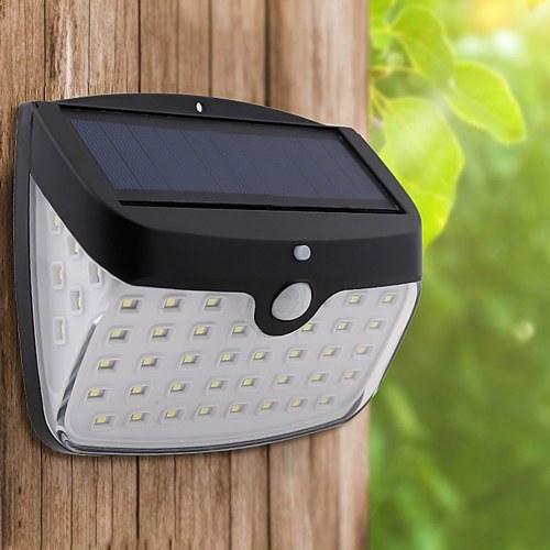 Solar 50LEDs Lâmpada de parede Indução corporal Outdoor Waterproof Landscape Patio Light