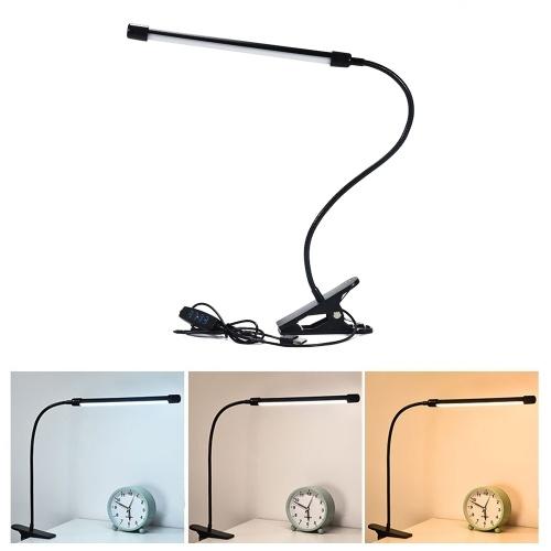 Clamp Night Lamp LED Desk Lamp Dimmable Eye Care Flexible USB Reading Light for Bedroom LED Bedside Lamp