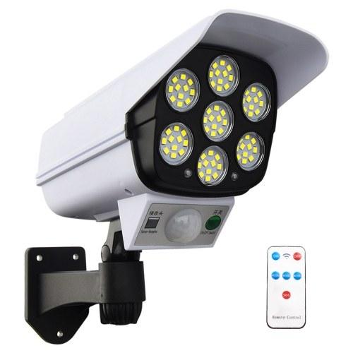 77 LEDs IP65 Solarwandlampensimulationsüberwachung Menschliche Induktionslampe Gartenlampe 3 Beleuchtungsmodi