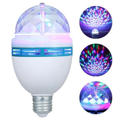 AC 85-260V 3W E27 LEDs rotierende drehbare Glühbirne Magic Ball Design für Home Birthday Party DJ Show Konzert
