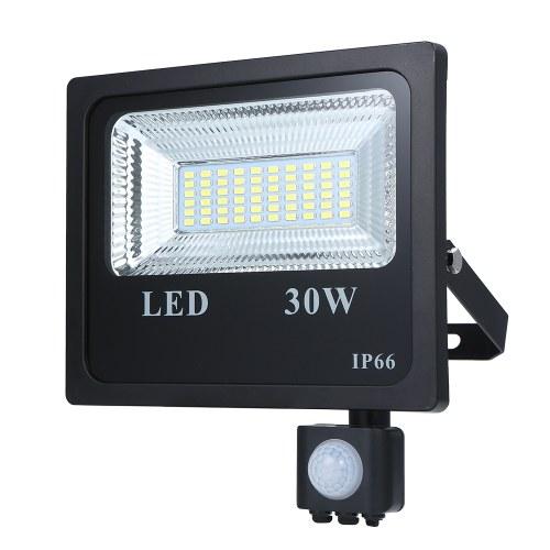 Tomshine AC85-265V 30W 60 LEDs Sensor de movimiento PIR Luz de inundación