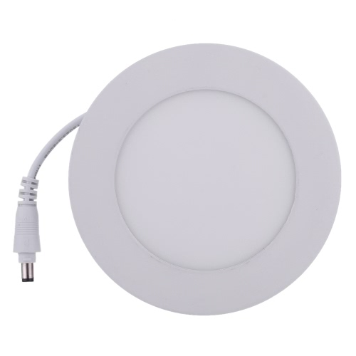 Lixada 6W LED Recessed Lighting Panel Ceiling Down Light Ultra Slim Thin and Bright Round Lamp Glare-free Wall Mount Downlights