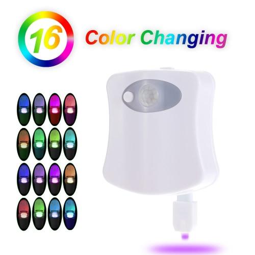 Motion Sensor LED 16 Farben Toiletten Nacht Licht