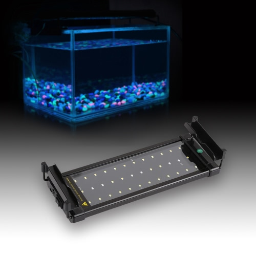 11 Extendable 6W 36 LED SMD 2835 White Blue Light 2 Modes Bracket Aquarium Fish Tank Lamp