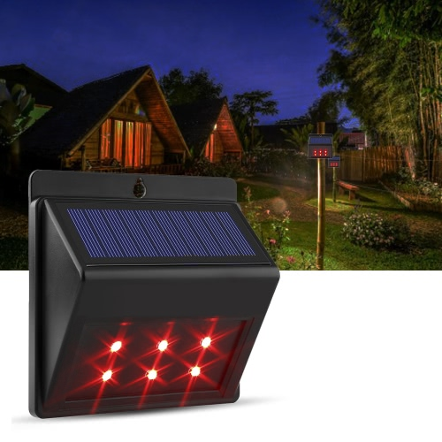 Solar Powered LED Red Predator Dissuasion Lumières Nocturnal Pest animal Repellent effraye Ferme Garden Pasture Orchard Corral Chicken Coop Garde Lumière