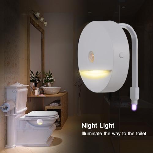 IP67 Wasserdichtes A ++ Energiespar RGB 8 Farben des LED-flexibles WC-Sitz-Lampe mit warmem Weiß Nachtlichtfunktion Lichtempfindliche Sensor Bewegung aktiviert für Badezimmer Bowl
